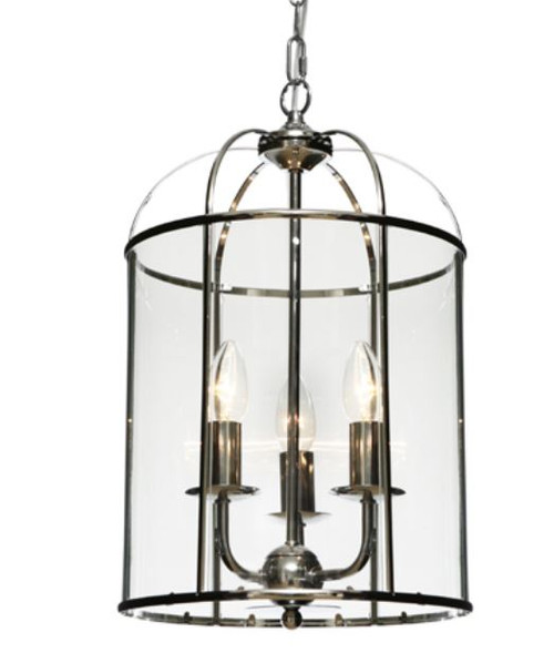 Coakley 3 Light  Chrome Curved Bell Pendant Light