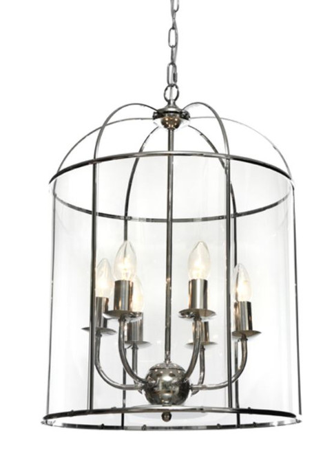 Coakley 6 Light  Chrome Curved Bell Pendant Light
