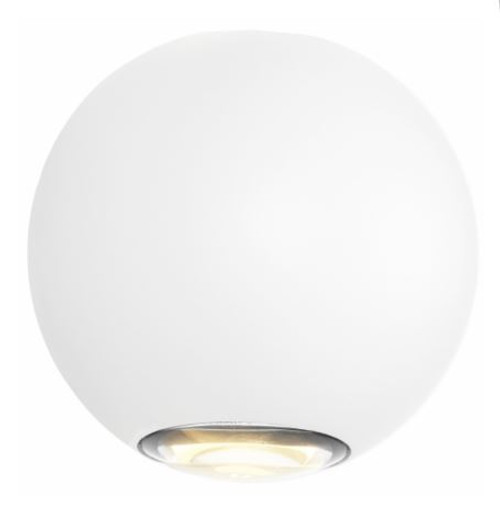 Geneva 2 Light White LED Exterior Wall Light