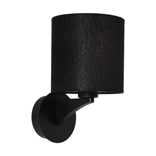 Kristine Drum Shade Black Wall Light
