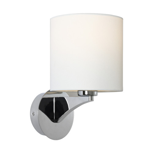 Kristine Drum Shade Chome Wall Light