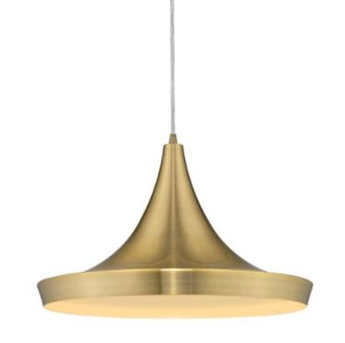 Laya Brushed Brass Mexican Hat Pendant Light  - Large
