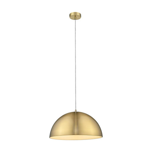 Luna Dome Brushed Brass Metal Pendant Light
