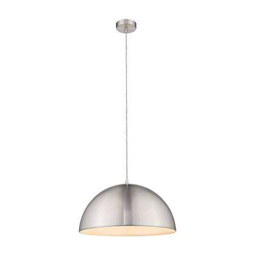 Luna Dome Brushed Nickel Metal Pendant Light