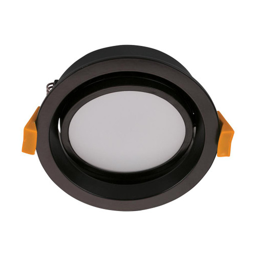 Deco 13W Round Tiltable Recessed LED Downlight Kit - Black
