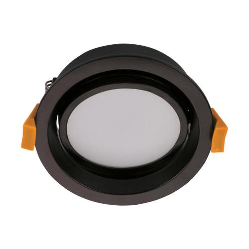 Deco 13W Round Tiltable Recessed LED Downlight Kit - Black