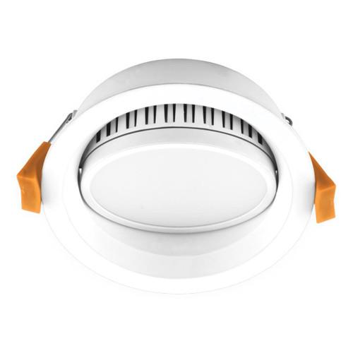 Deco 13W Round Tiltable Recessed LED Downlight Kit - White