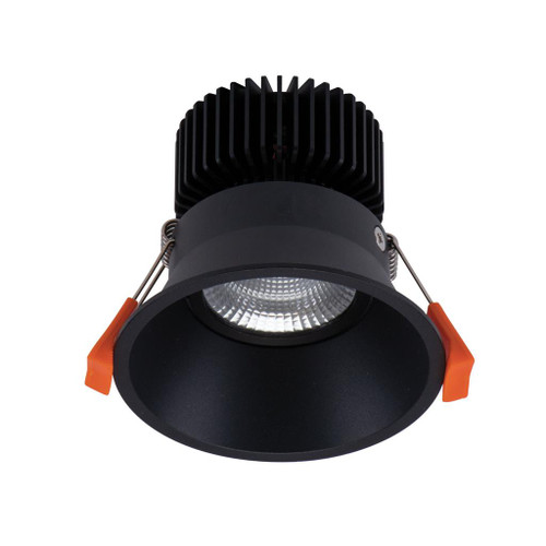 Deep 10W Ultra Slim Round Recessed LED Downlight Kit - Black
