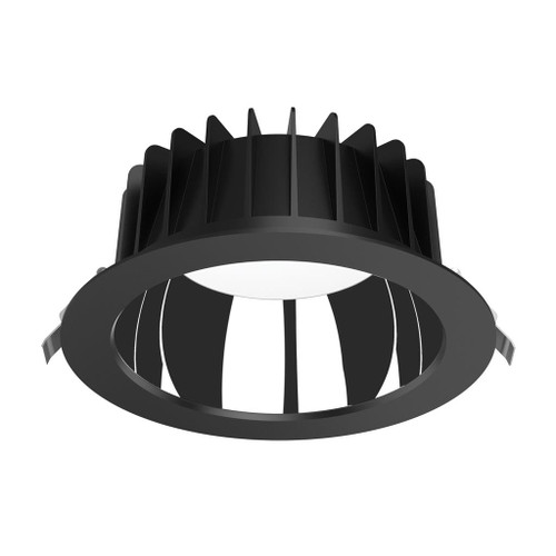 Expo Low Glare Recessed 3CCT LED Downlight Kit - Black- Large
