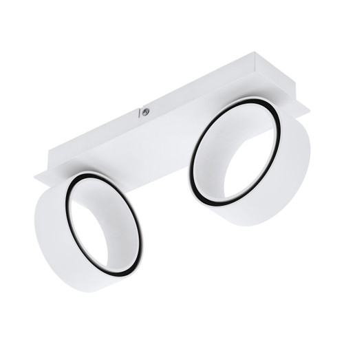 Albariza 2 Light White LED Close To Ceiling Spotlight