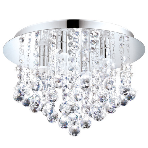 Almonte Clear Crystal Close To Ceiling Light - Medium