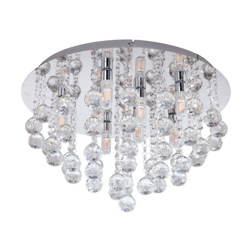 Almonte Clear Crystal Close To Ceiling Light - Large