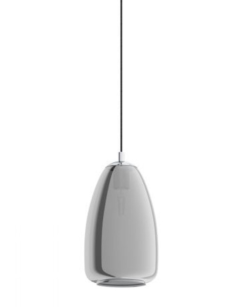 Alobrase Smoke Glass Bell Pendant Light