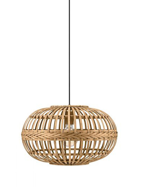 Amsfield Woven Rattan Disc Pendant Light