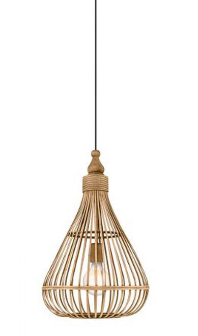 Amsfield Woven Rattan Bulb Pendant Light
