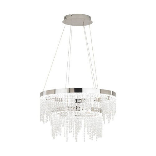 Antelao 2 Tier Round Crystal LED Pendant Chandelier