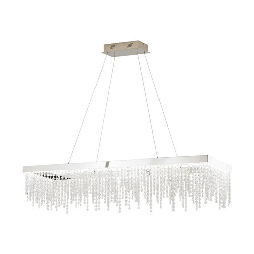 Antelao Rectangular Crystal LED Pendant Chandelier