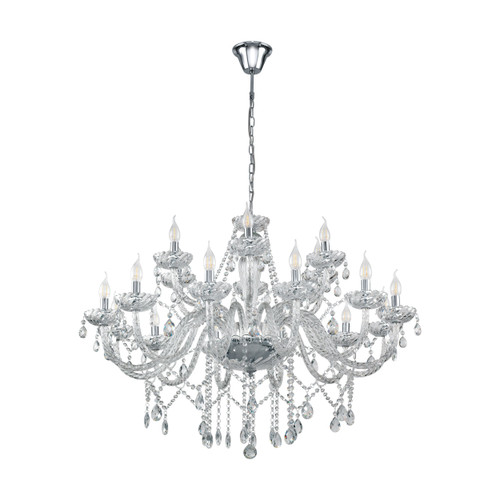 Basilano 12 Light Clear Glass Traditional Pendant Chandelier