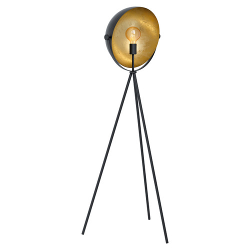 Darnius Black and Gold Tripod Moon Floor Lamp