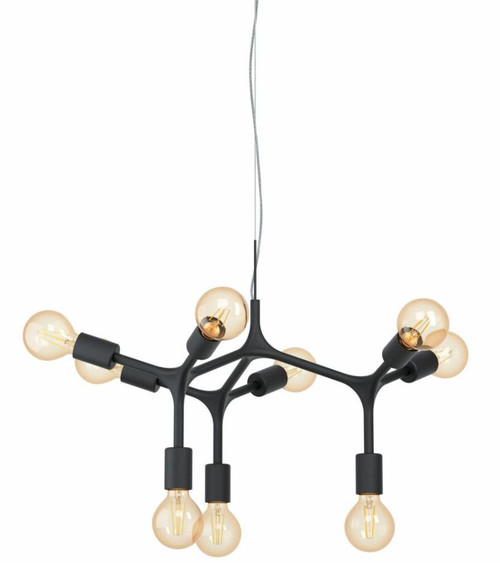 Bocadella 9 Light Black Steel Modern Pendant Light