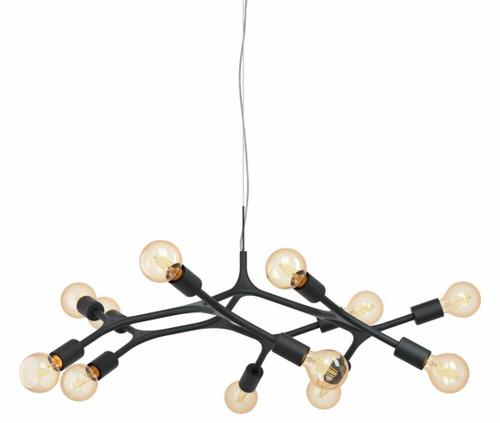 Bocadella 12 Light Black Steel Modern Pendant Light