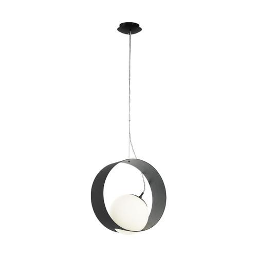 Camargo 1 Ring Black Opal White Modern Pendant Light