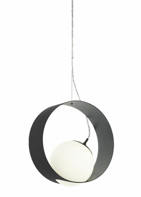Camargo 1 Ring Black Opal White Modern Pendant Light