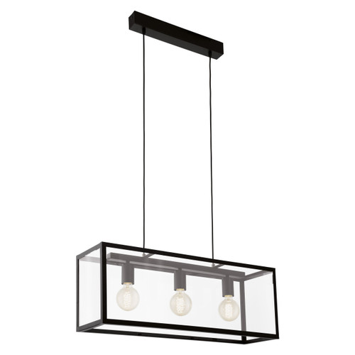 Charterhouse Retro Glass Linear Pendant Light