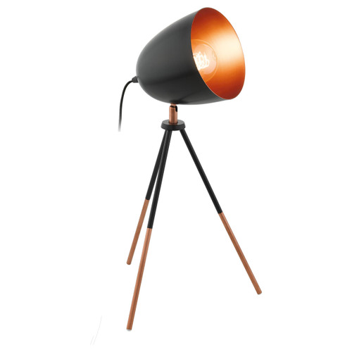 Chester Black Copper Tripod Table Lamp