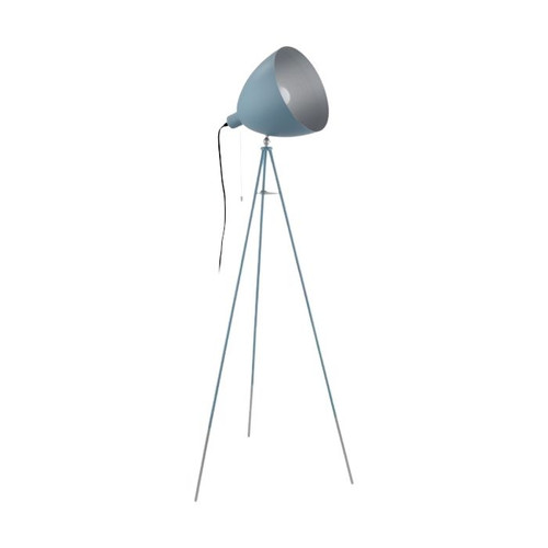 Chester Pastel Blue Silver Tripod Floor Lamp