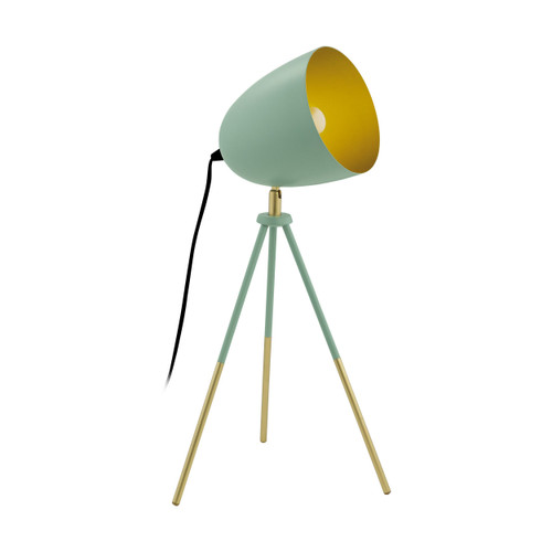 Chester Pastel Green Gold Tripod Table Lamp