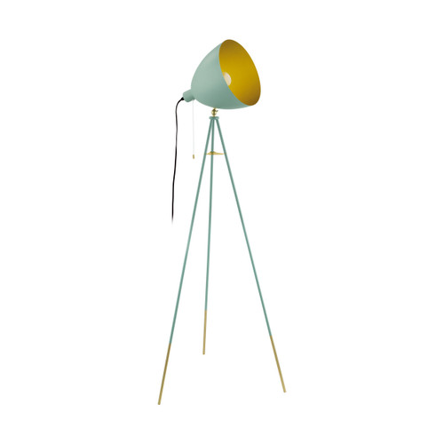 Chester Pastel Green Gold Tripod Floor Lamp