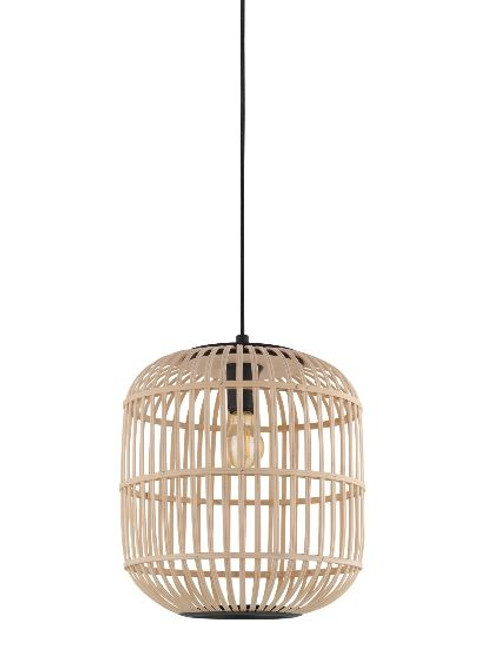 Bordesley Natural Wooden Pendant Light - Medium