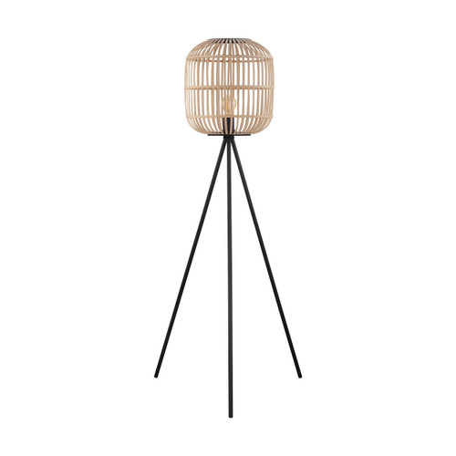 Bordesley Natural Wooden Floor Lamp