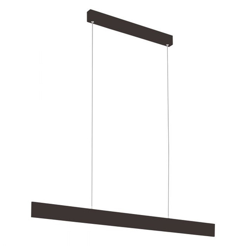 Climene Matt Black LED Linear Pendant Light
