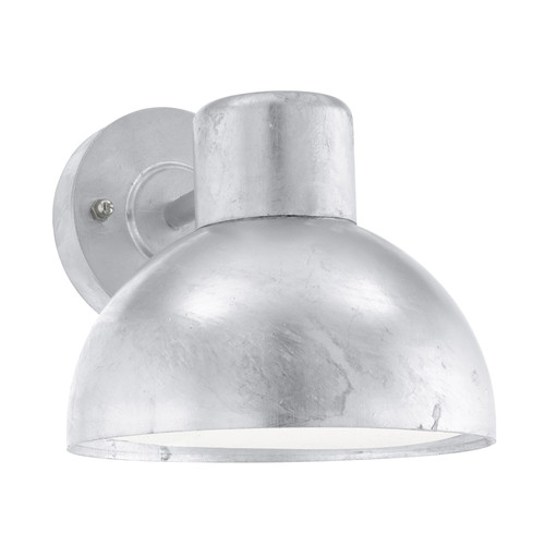 Entrimo Galvanised Steel Dome Outdoor Wall Light