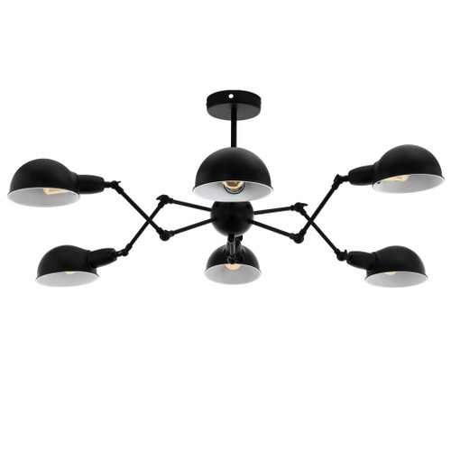 Exmoor 6 Light Modern Black Pendant Light