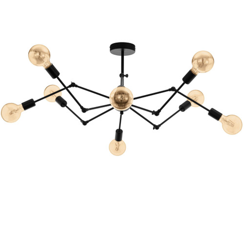 Exmoor 8 Light Modern Black Pendant Light