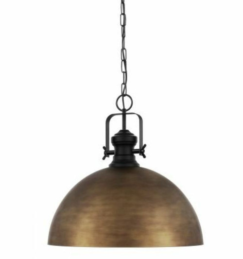 Combwich Vintage Dome Bronzed Gold Pendant Light - Large
