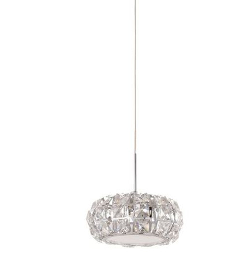 Corliano Mini Chrome Crystal Pendant Light
