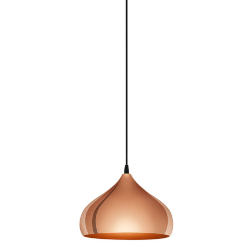 Hapton Modern Copper Dome Pendant Light