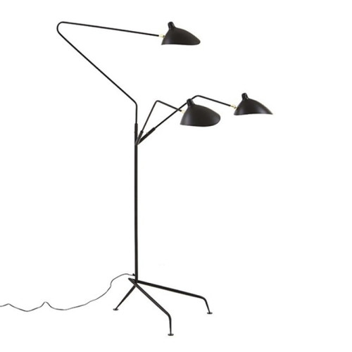 Replica Serge Mouille Three Arm Standing Floor Lamp
