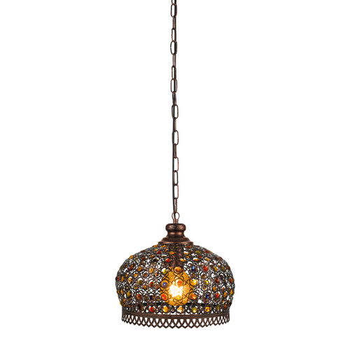 Jadida Moroccan Antique Copper Pendant Light