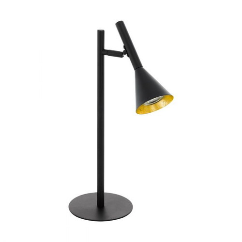 Cortaderas Black Gold Pipe Funnel Adjustable Table Lamp
