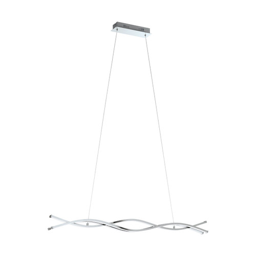 Lasana 2 Chrome 29W Modern Linear Pendant Light