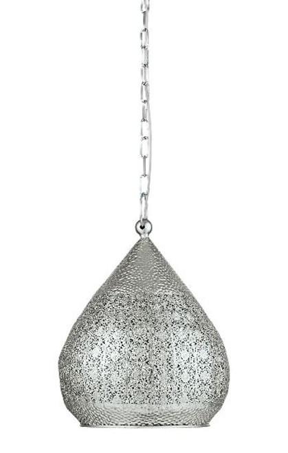 Melilla Moroccan Silver Steel Pendant Light