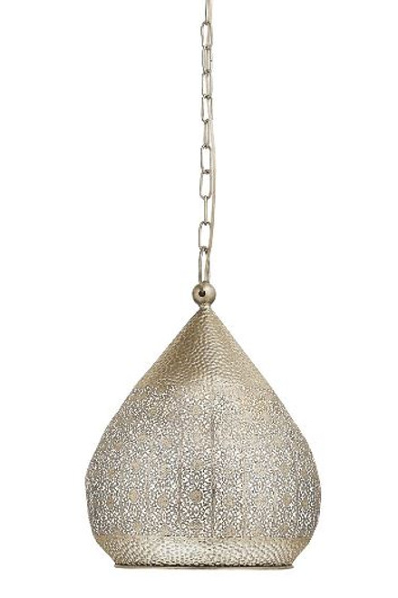 Melilla Moroccan Gold Steel Pendant Light