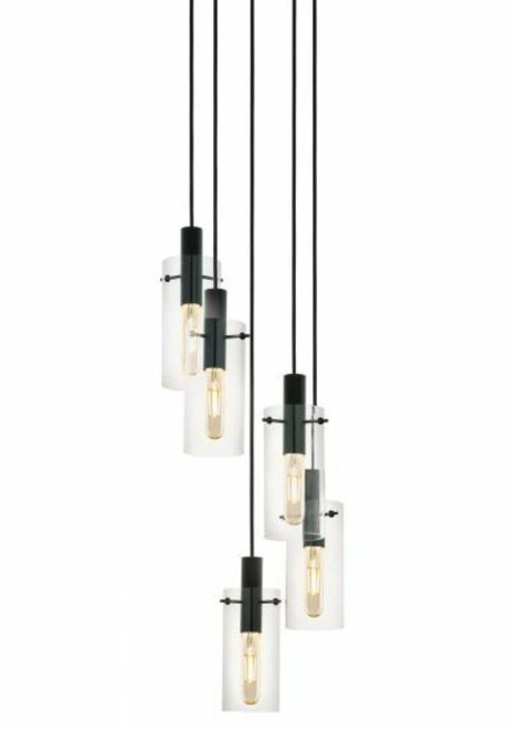 Montefino 5 Light Cylinder Cluster Pendant Light
