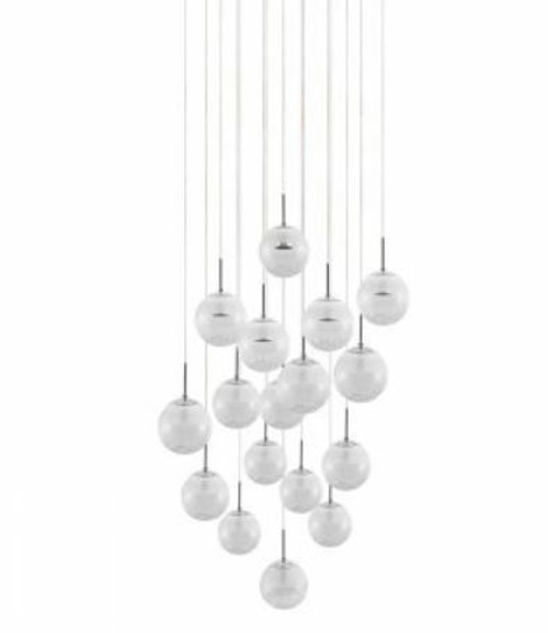 Montefio 17 Light Glass Crystal Pendant Chandelier