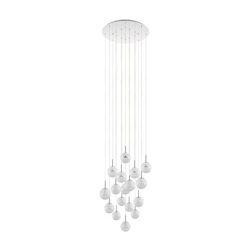 Montefio 17 Light Glass Crystal Pendant Chandelier
